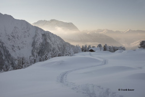 Winter landschaft from Mayrhofen